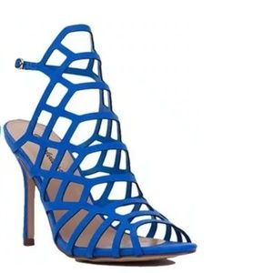 New York & Co. blue cage heels